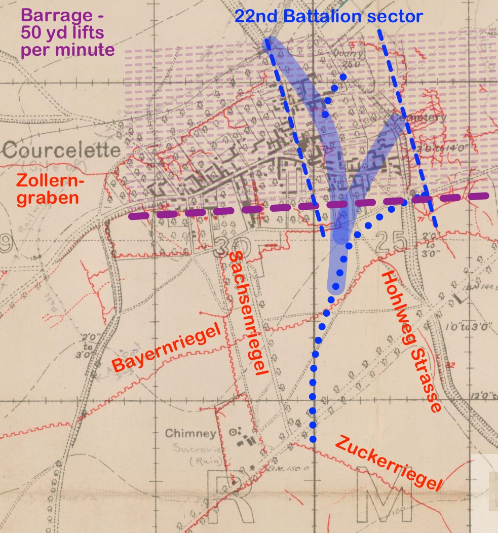 Courcelette map