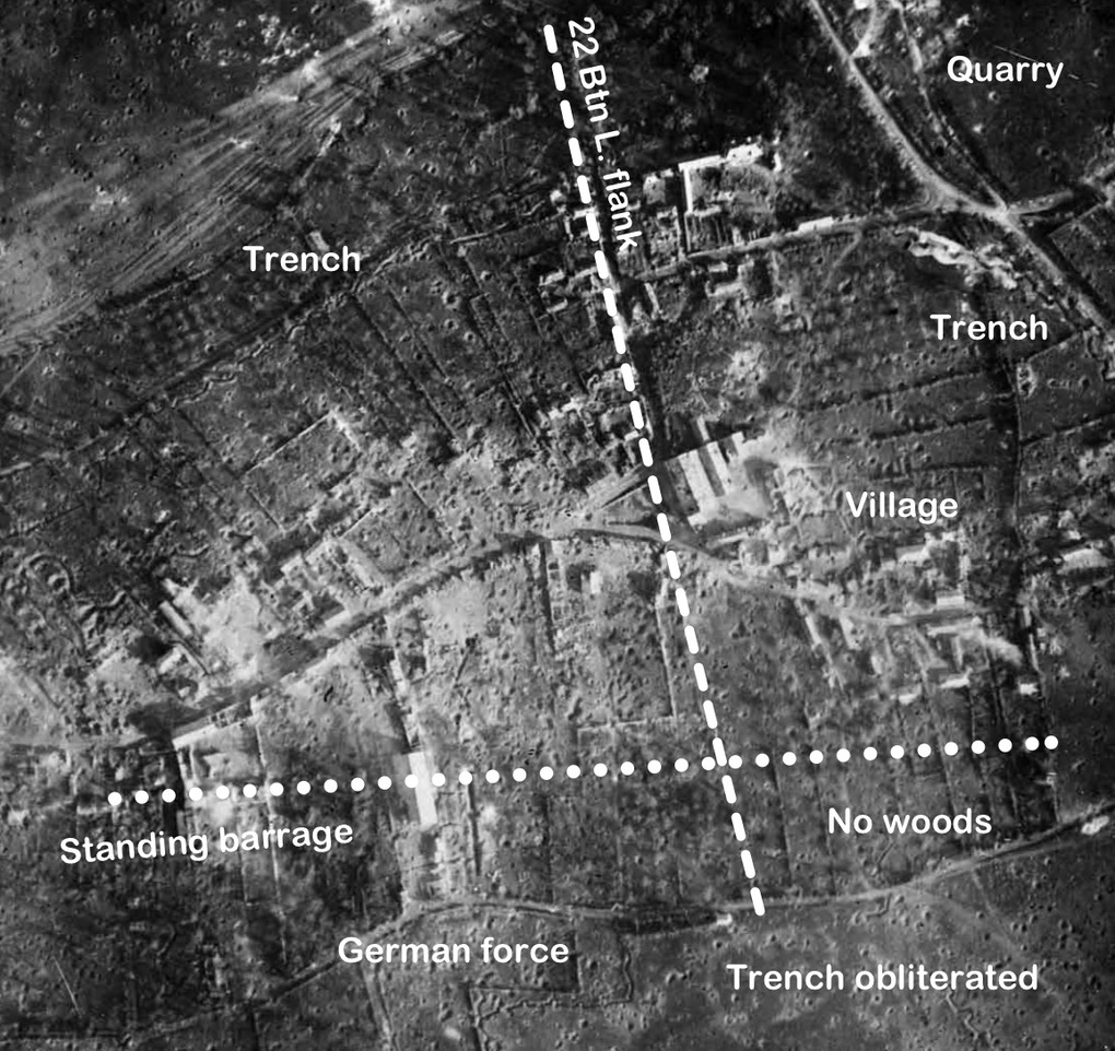 Courcelette aerial photo